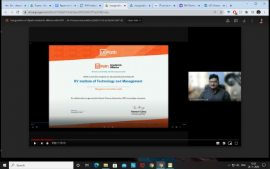 """Coding Contest """"Inauguration of Uipath Academic Alliance with RVITM & Technical Talk on Robotic Process Automation"""""""